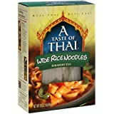 A Tast of Thai Extra Wide Rice Noodles, 16 Oz Pack -- 6 Per Case.