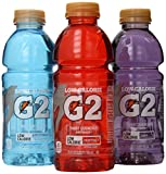 Gatorade G2 Thirst Quencher Low Calorie Variety Pack, 20 Ounce Bottles, 12 Pack