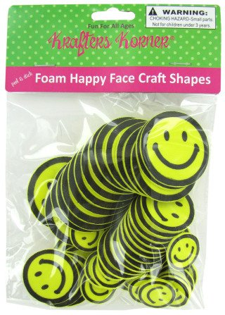 Happyface Foam Shapes - Case Pack 72 SKU-PAS777450