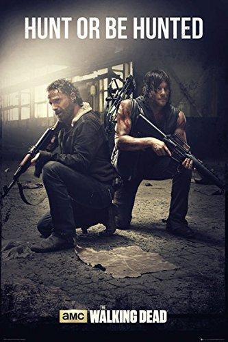 "The Walking Dead - TV Show Poster / Print (Rick Grimes & Daryl Dixon - Hunt Or Be Hunted) (Size: 24"" x 36"")"