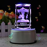 LIWUYOU-Music-Box-Rectangle-Crystal-3D-Carousel-Horse-Colorful-LED-Rotating-Carousel-Music-Base