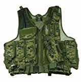 Paintball / Hunting / Airsoft Woodland Digital Camouflage Deluxe Tactical Vest Picture