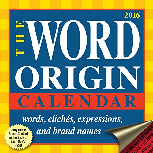 Word Origin 2016 Daytoday Calendar