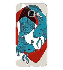 EPICCASE Two fishes Mobile Back Case Cover For Samsung C5 (Designer Case)