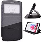 Grey / Black Slide Auto Answer Stand Case For Lg G3