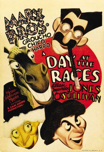 movie poster - A Day at the Races - Marx Brothers - Groucho, Chico, Harpo