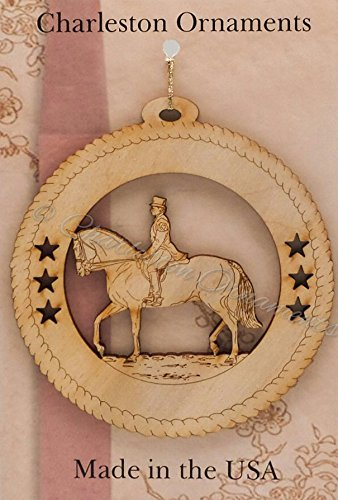 Female Dressage Horse Ornament - Horse Ornaments - Equestrian Ornaments - Equestrian Gifts - Equestrian Decor