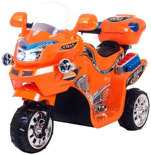 Lil' Rider Fx 3 Wheel Battery Powered Bike, Orange front-91495