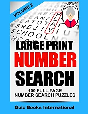 Large Print Number Search Vol. 2