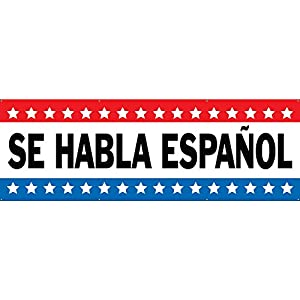 Amazon.com : SE HABLA ESPAÑOL Banner 4ftX12ft : Office Products