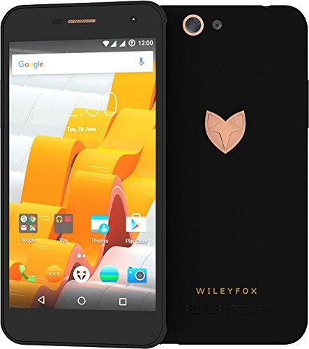 """Wileyfox Spark X - Teléfono móvil con pantalla de 5.5"""" (Quad-Core a 1.3 GHz, memoria RAM de 2 GB, cámara de 13 MP, 1280 x 720 pixeles, 4G, Cyanogen 13.0) color negro"""