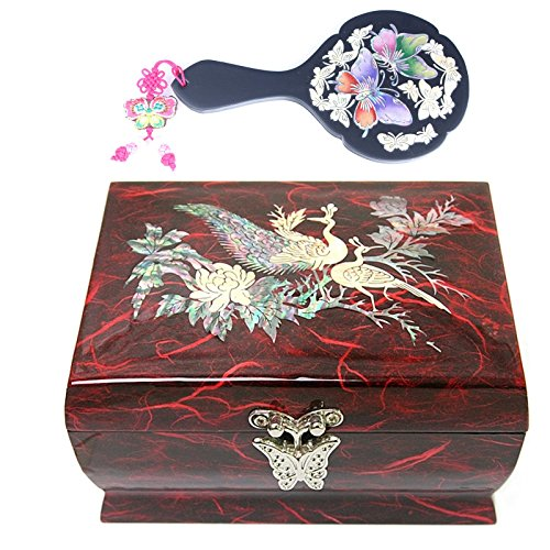 jewelry-boxes-music-box-arirang-mother-of-pearl-handcraft-handmirror-gift-set-l5red