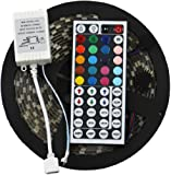 ADX LED-STRIP-NA Strip 16.4FT SMD Water-Resistant 300LEDs RGB Flexible LED Strip Light Lamp Kit Plus 44 Key IR Remote Controller