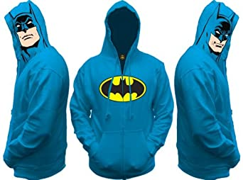 Batman All View Men's Zip Hooded Sweatshirt, X-Large
