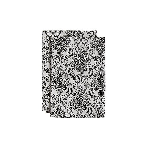 Jessie Steele Bouquet Damask Cream and Black Cloth Napkins