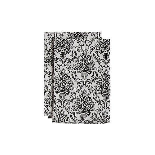 Jessie Steele Bouquet Damask Cream and Black Cloth Napkins