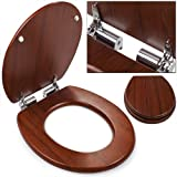 Abattant lunette cuvette de toilette WC frein de chute SlowClose effet bois