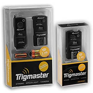 Aputure 2.4Ghz Trigmaster Kit (Un transmetteur + 2 récepteurs) Radio Télécommande Déclencheur Flash et publication câble d'obturation,