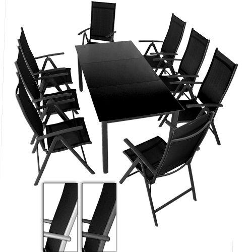 salon-de-jardin-terrasse-gris-clair-ensemble-8-chaises-et-table-avec-plateau-en-verre-noir-190-x-87-