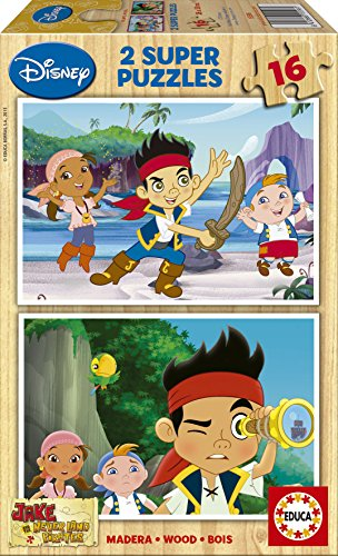 Jigsaw-Puzzle-2-x-16-Wooden-Pieces-Jake-and-the-Neverland-Pirates