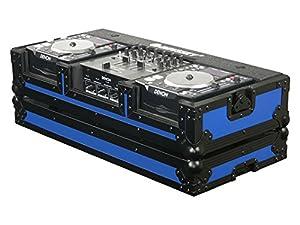 Odyssey FRDNX1200BKBLUE Denon Dj Console - Blue 10 Inch DJ Mixer Coffin