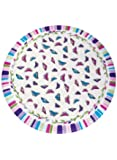 """Deluxe Fitted Tablecloths - Round Tablecloth (Fits tables up to 48"""" diam.), Color Butterfly"""