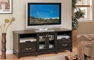 Contemporary Cappuccino Entertainment Console Plasma LCD TV Stand