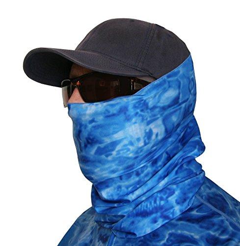 Aqua Design Fishing Sun Mask Camo Multipurpose Face Wind Sun Protection Head Tube Sizes Youth to Adult XL Fishing Hunting Gaiter, Royal Ripple, L (Sun Protection Fishing compare prices)