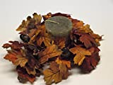"""Set of 2 Fall Candlerings Mini Wreaths with Berries and Acorns, Fall Decorations Autumn Decorations, 7"""""""