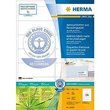 Herma 10826 Étiquettes d'adresse en papier recyclé avec
