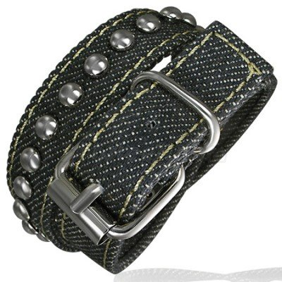 Fashion Jeans Double Wrap Spikes Belt Buckle Bracelet
