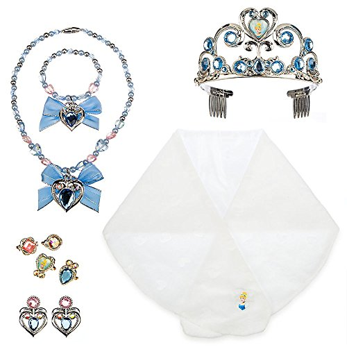 Disney Princess Cinderella Costume Accessory Set for Girls with Storage Case