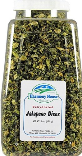 Harmony House Foods Dried Jalapeno Peppers, diced