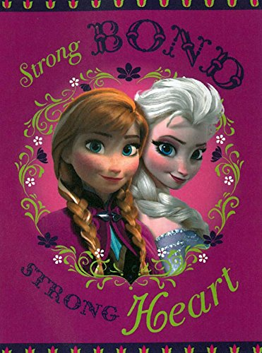 "Disney Frozen Sister Bond Royal Plush Raschel Throw 40""x50"" Plush Blanket in a Gift Box"