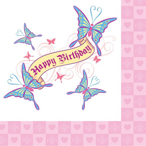 Her Highness Happy Birthday 3-Ply Lunch Napkins 16 Per Pack - 1