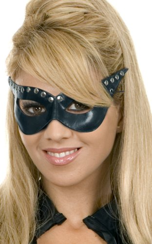 Charades Sexy Cat Woman Superhero Halloween Costume Faux Leather Mask
