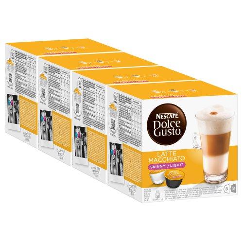 Order Nescafé Dolce Gusto Skinny Latte Macchiato, Pack of 4, 4 x 16 Capsules (32 Servings) from Nestlé