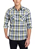 51wqNfTAETL. SL160  Kenneth Cole Mens Western Plaid Shirt