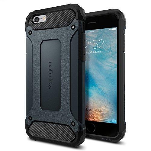 【Spigen】 iPhone6s ケース / iPhone6 ケース タフ・アーマー テック [ エアクッションテクノロジー ] アイフォン6s / 6 用 米軍MIL規格取得 耐衝撃カバー (メタル・スレート SGP11743)