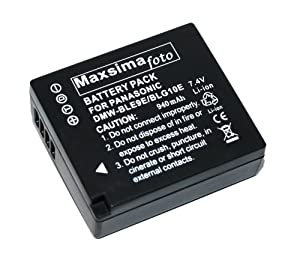 Maxsimafoto - Battery for Panasonic Lumix DMC-GF6, GX7 Compatible with DMW-BLG10, DMW-BLG10E.