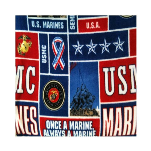 Fleece Printed Us Marines Print Blanket 58 Inch By 36 Inch