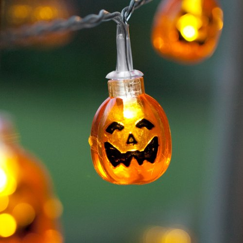 10 Halloween Pumpkin Battery Operated Led Fairy Lights By By Lights4fun