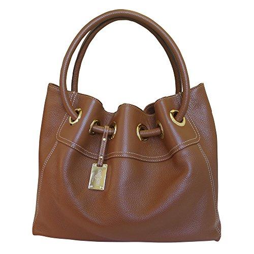 Designer italienischen Leder Hobo Bag Handtasche - braun