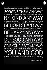 Image result for Do It Any Way Mother Teresa Quote