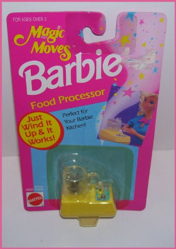 1993 Barbie Doll Magic Moves Food Processor - Wind It up & It Really Works1993 Barbie Doll Magic Moves Food Processor - Wind It up & It Really Works