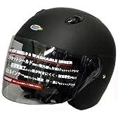FS-JAPAN Benetton Formula 1(ベネトン フォーミュラー 1) セミジェットヘルメット UVカット硬質シールド付き マットブラック BH-222K