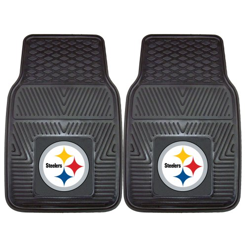 FANMATS NFL Pittsburgh Steelers Vinyl Heavy Duty Vinyl Car Mat