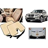 Auto Pearl - Premium Quality Car Seat Rest Cushion Beige Set Of 2Pcs For - BMW X3