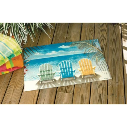 Amazon.com - Palm Tree Beach Chair Door Mat Area Rug - Synthetic Rugs