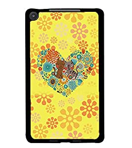 PrintDhaba Cartoon D-4517 Back Case Cover for ASUS GOOGLE NEXUS 7 2013 (Multi-Coloured)